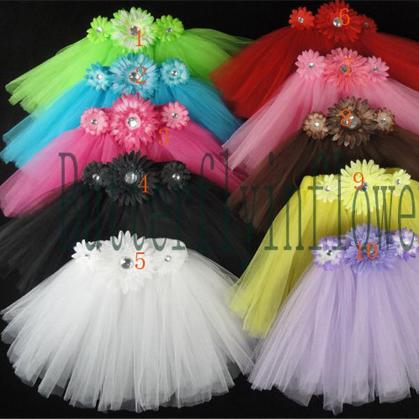 Baby Cheap Tutu Pettiskirt Girls Skirt Colorful Children Flowers TUTU Skirt Girls