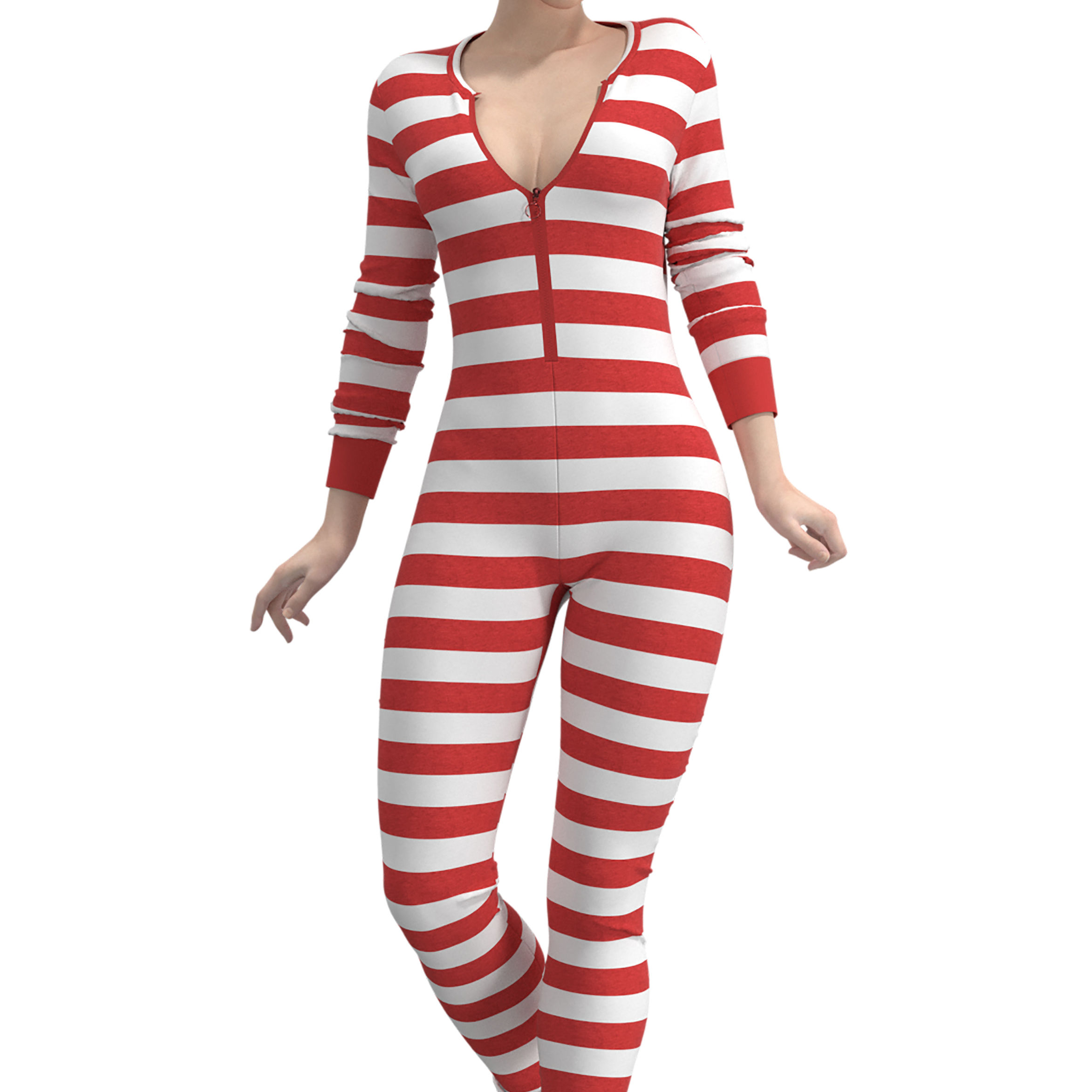 OEM Printed Private Label Women Striped Onesie Pajamas Sleep Jumpsuit