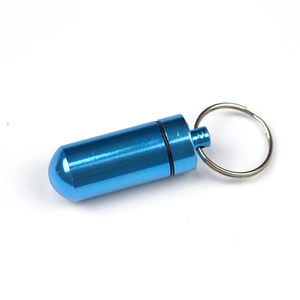 Custom logo Aluminum Pill Box Keyring , Case Holder Bottle Stash Container,CNC Turning Aluminum Part