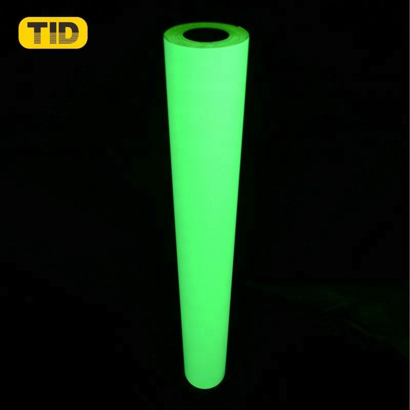 China Manufacturer Printable Photoluminescent Tape Glow In Dark Film