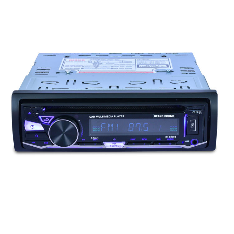 panel fijo reproductor de Radio DVD coche Bluetooth FM RECEPTOR RDS <span class=keywords><strong>CD</strong></span> VCD MP3 SD 32 GB USB 12 V 1Din control remoto 4*52 W ISO