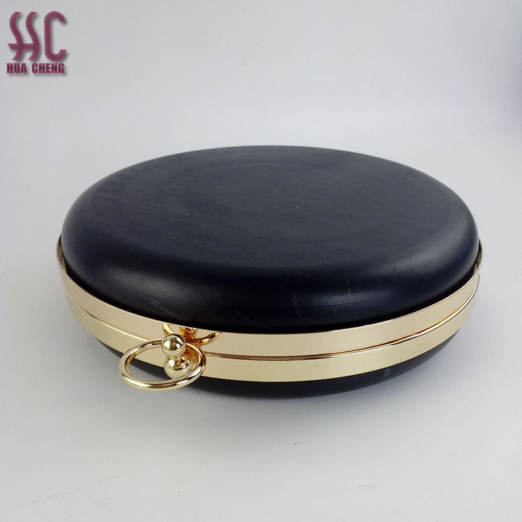 Guangzhou China New Style Round Shape Metal Clasp Purse Frame Box Clutch Bag Frame