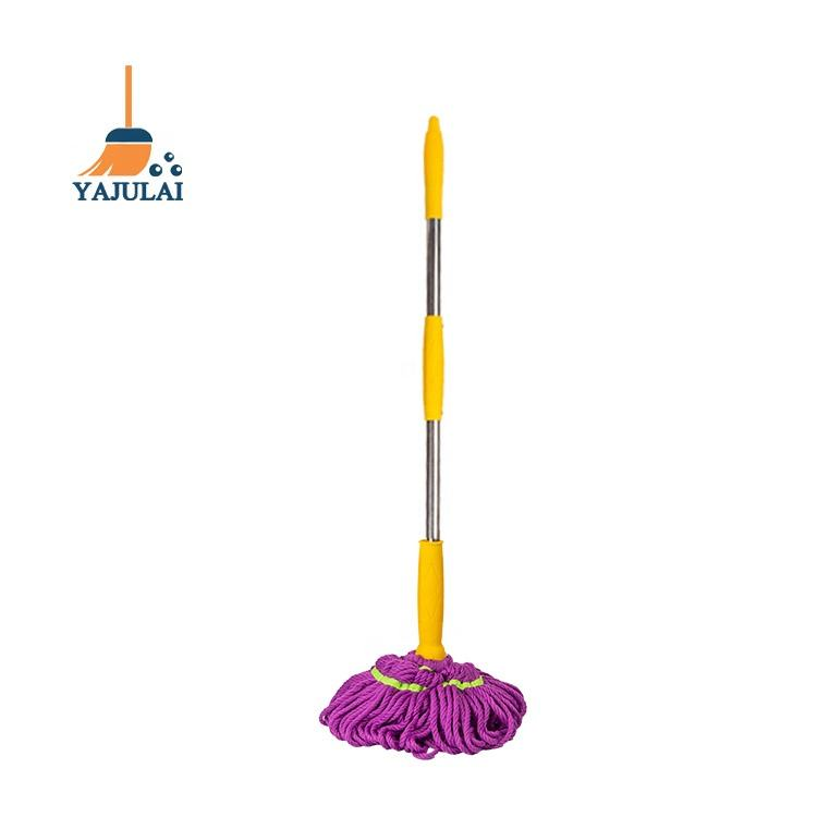 YAJULAI factory direct supply mop microfiber easy clean Household 100% Microfiber Twist Cleaning Mop 420G for india market