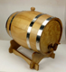 Wholesale factory FSC rustic pine Wine Brewing Keg tank whiskey Wine Beer Wooden Barrel Dispenser with Stand