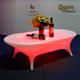 Leisure lighted up led bar table cheap dinning table set