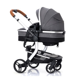High Landscape bassinet child trolley / baby stroller with big wheels / prams 3 in 1 with seat