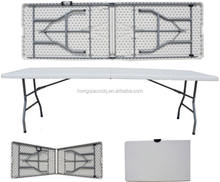 240cm events party plastic table/8ft long foldable table for 8 people light weight snack desk