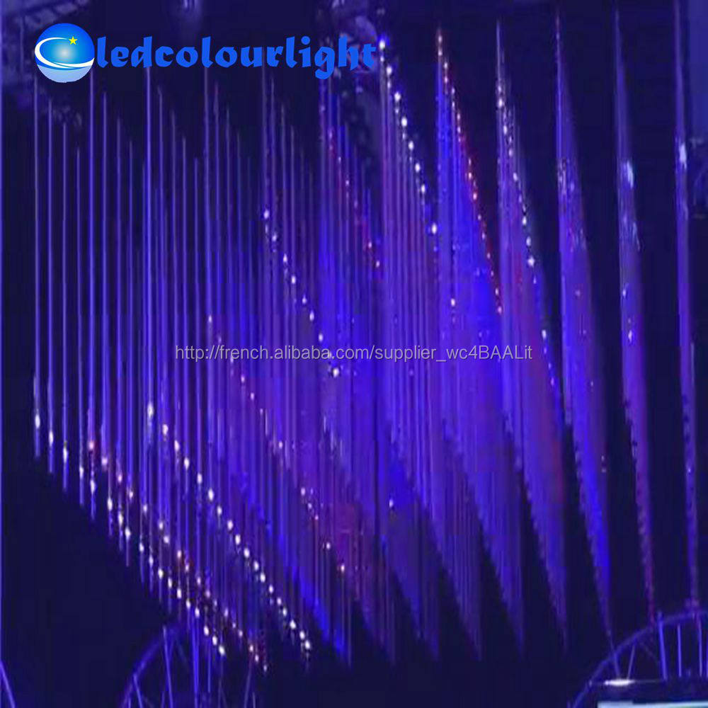 Discothèque bar scène 0.5 m 1 m 1.5 m 2 m LED DMX512 rvb Meteor Tube lumières DJ DMX LED Falling Star light