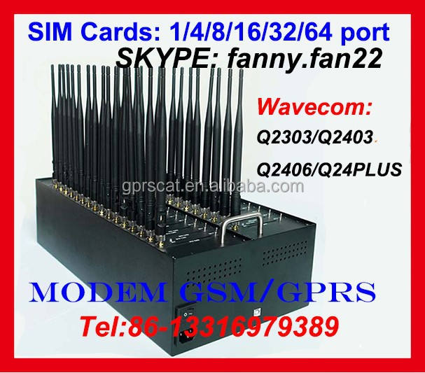 wireless 32 sim gsm module modem for bulk SMS AT Command TCP/IP