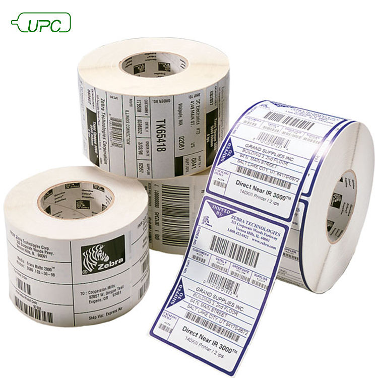 Clear/White Custom Printing Paper Adhesive RF Sticker Label/Bar Code Label Roll