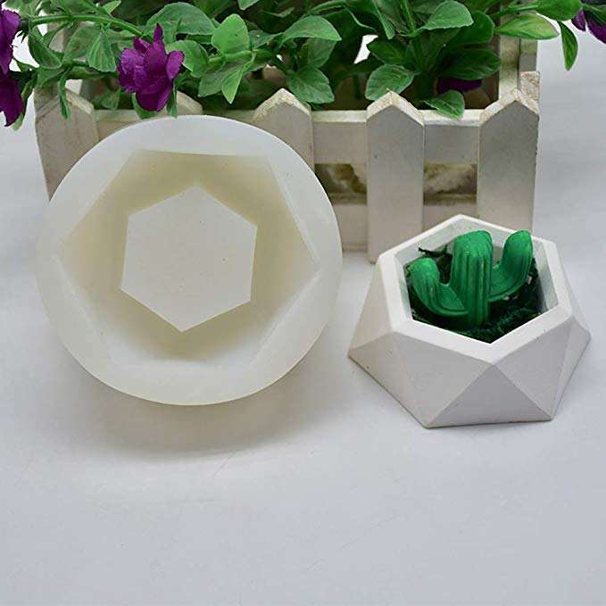 Factory direct succulent flower pot mold cement planter silicone mold
