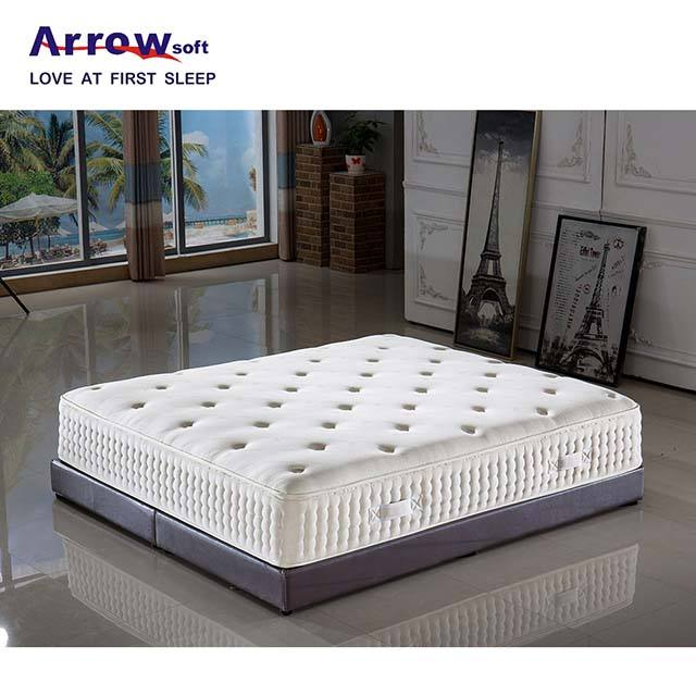 Arrowsoft high grade hotel super soft memory foam pocket spring mattresses