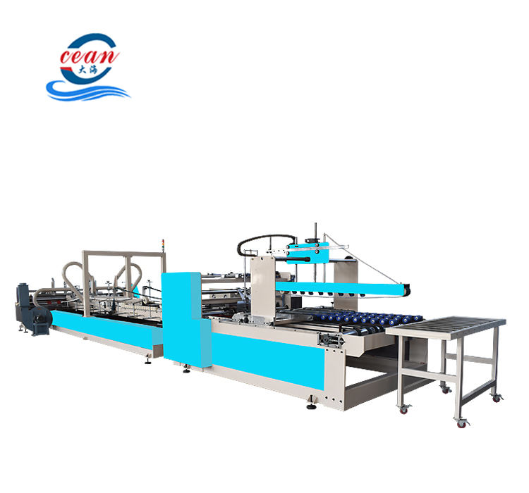 automatic feeder corrugated box carton folder gluer machine