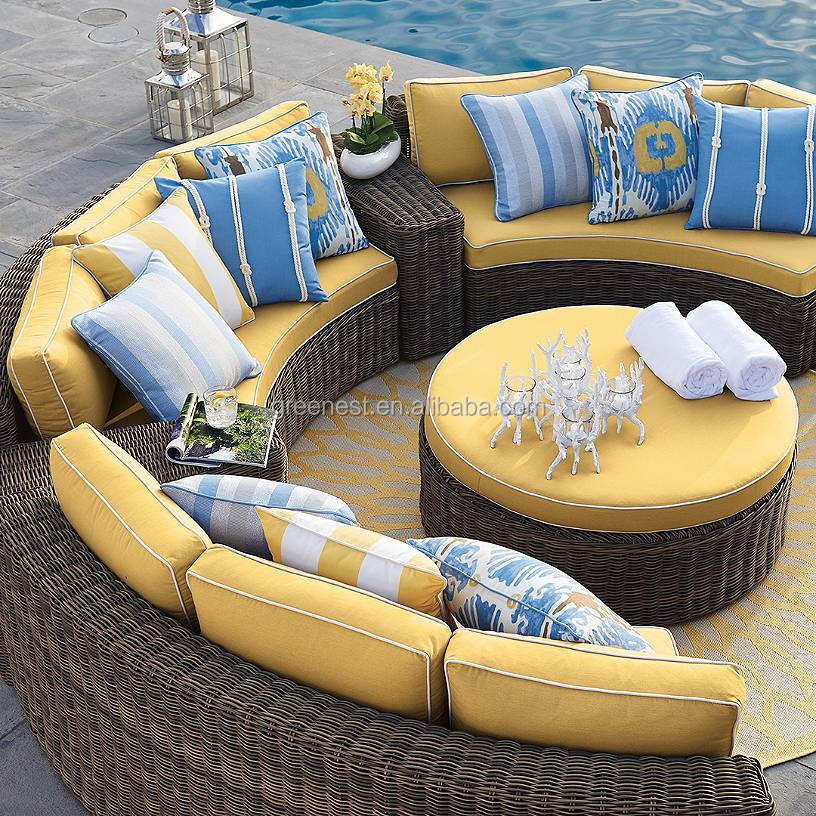 2018 Green no MOQ all weather lowes wicker wilson and fisher patio furniture