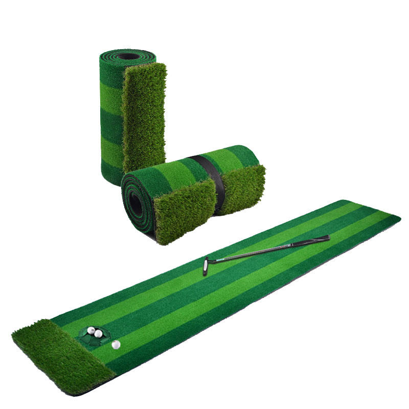 0.6x3 m deluxe matten met rubber bases indoor golf oefening mat putting trainer soft roll up putting mat