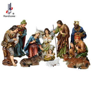 24 Inch Outdoor Decoration Jesus Birth Christmas Crib Nativity Set Statues