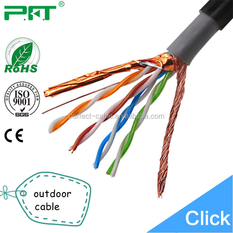 Outdoor ethernet shielded Cat5e/Cat6/Cat6a/Cat 7 Patch Cord Cable High Speed Network Cable