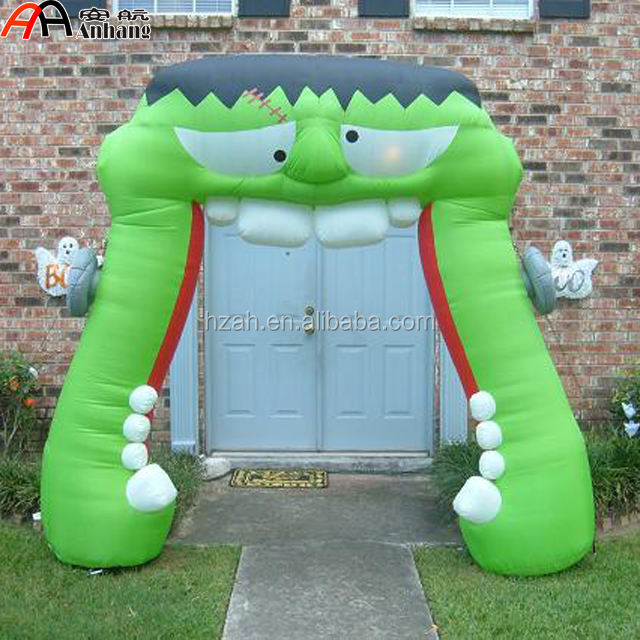 Inflatable Halloween Party Decoration Arch/ Inflatable Frankenstein Mouth Archway