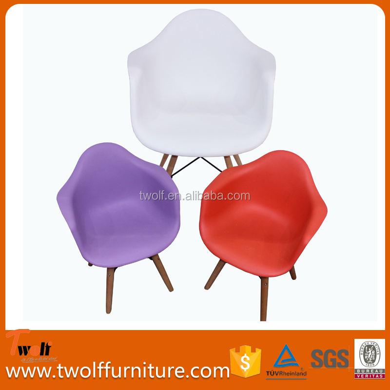 Crianças do jardim de infância mão 3 v plástico de madeira de jantar cadeira T813L emes