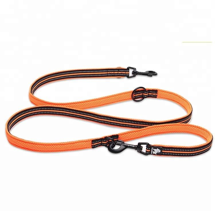Truelove Chew Proof 7 In 1 Multi-Function Double Dog Leash Reflective, Dog Running Leash, Wholesale Nylon Dog Leash Flashlight
