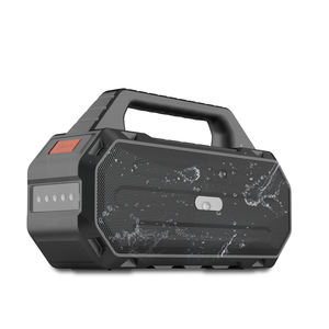 2019 Newest Stereo 30W Bass Rugged wireless portable speaker with TF card and flashlight for outdoor