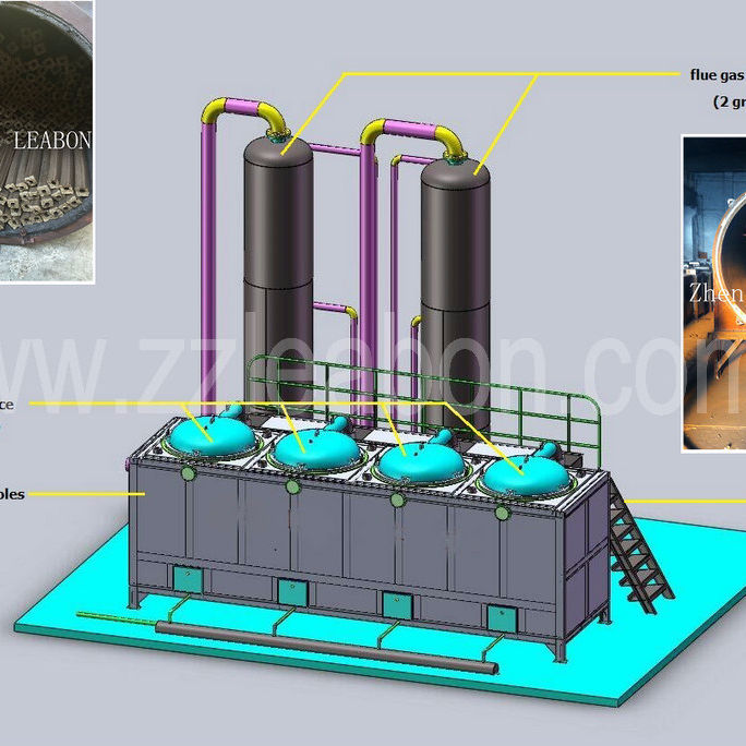 Activated carbon furnaces sawdust coconut shell charcoal carbonization furnace
