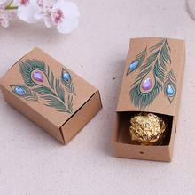 Peacock Design Wedding Favor box