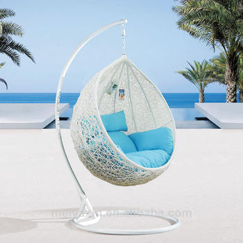 New style outdoor egg chair rattan garden patio single hanging chairs patio swings