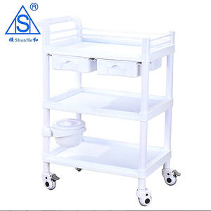 ABS materiale Medico Trolley Ospedale/salone di Bellezza Trolley Carrello Medico