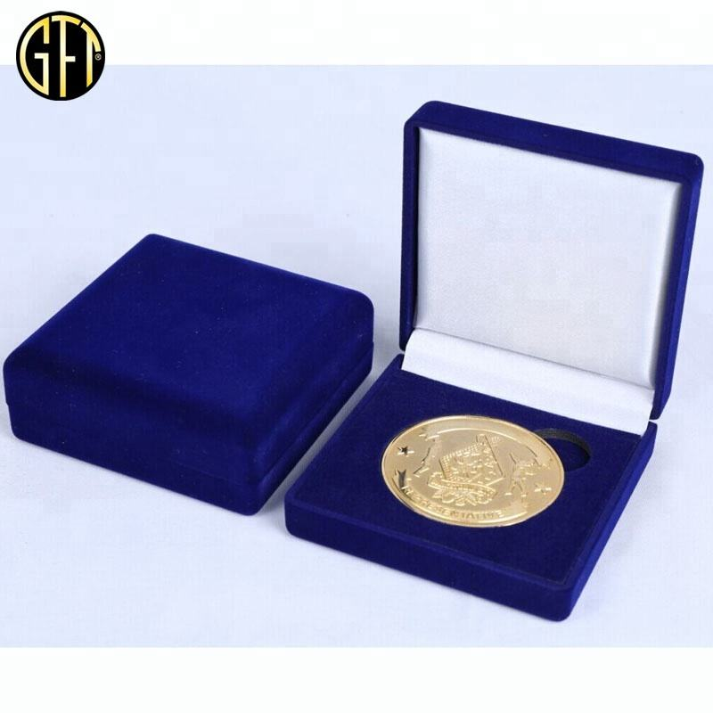 Military Metal Coins and Custom Enamel Challenge Coins Velvet Presentation Boxes