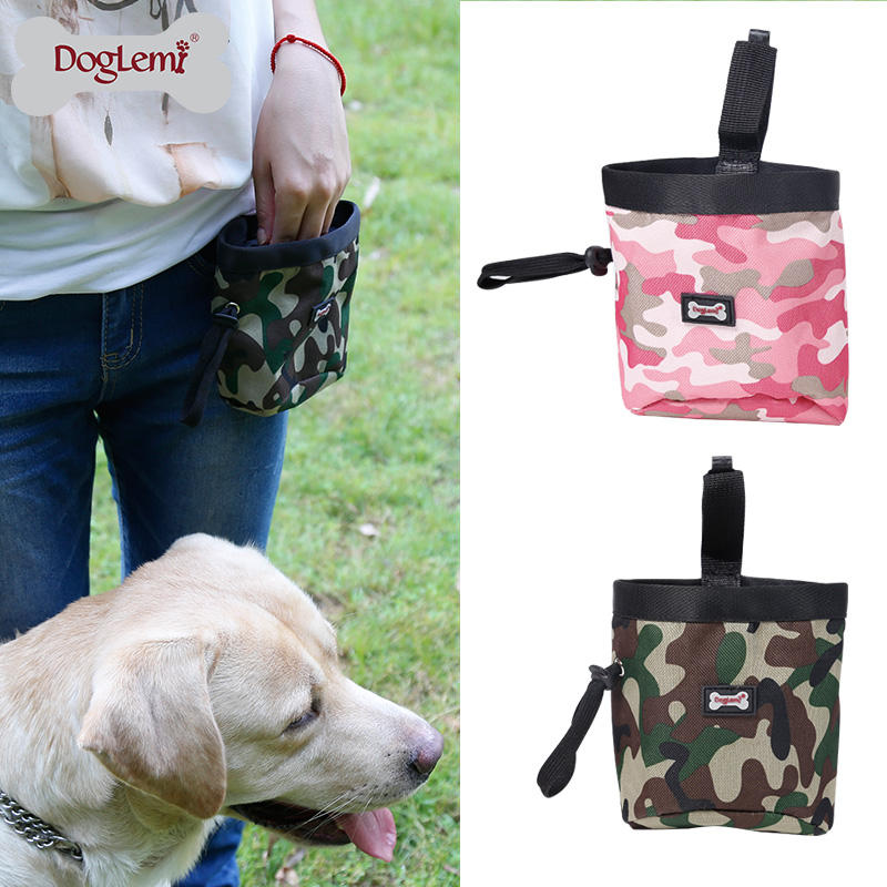 Camouflage Design Pet Dog Snack Treat Bag Outdoor Dog Training Pet Treat Pouch
