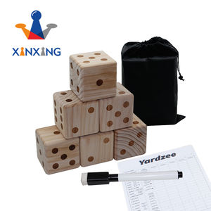 Garden yard dice wood dice  outdoor wooden dice set