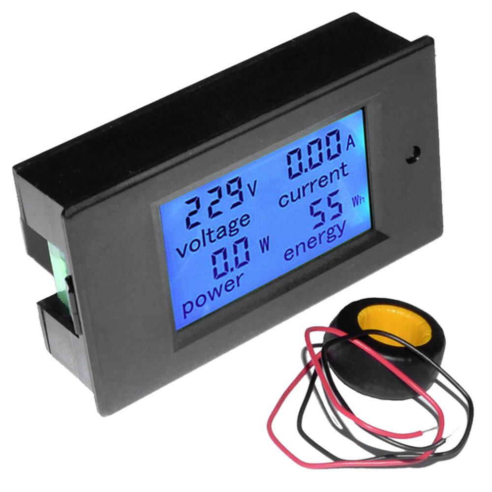 LCD AC 80-260V 0-100A Digital <span class=keywords><strong>Tegangan</strong></span> Volt Current Meter Panel Energi Grosir