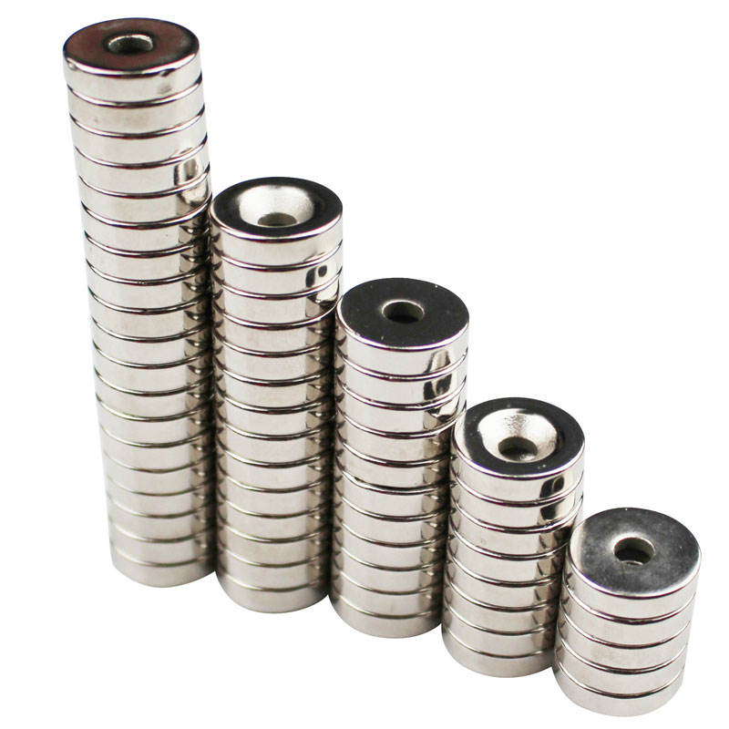 Strong Disc Neodymium Magnets D12x3mm Countersunk Hole M3