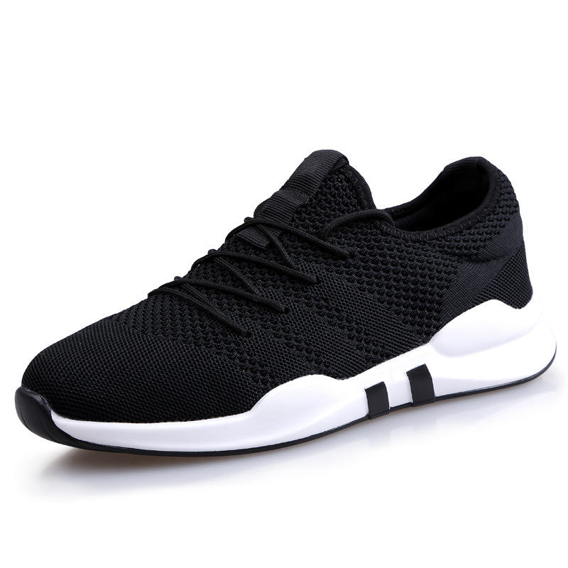 Summer new 2017 men's shoes knitted breathable flat canvas shoes