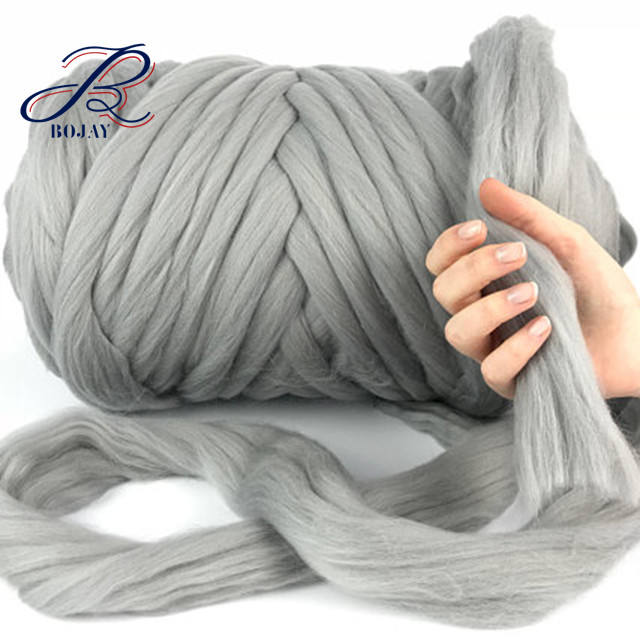 21Micron 66s More Than 100 Colors Super Chunky Thick 100% Merino Wool Chunky Roving Hand Knitting Yarn