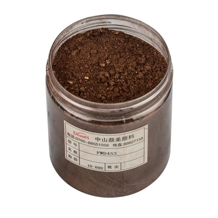 SGS Certification Iron Oxide Brown Color Pearl Pigment For Plastic