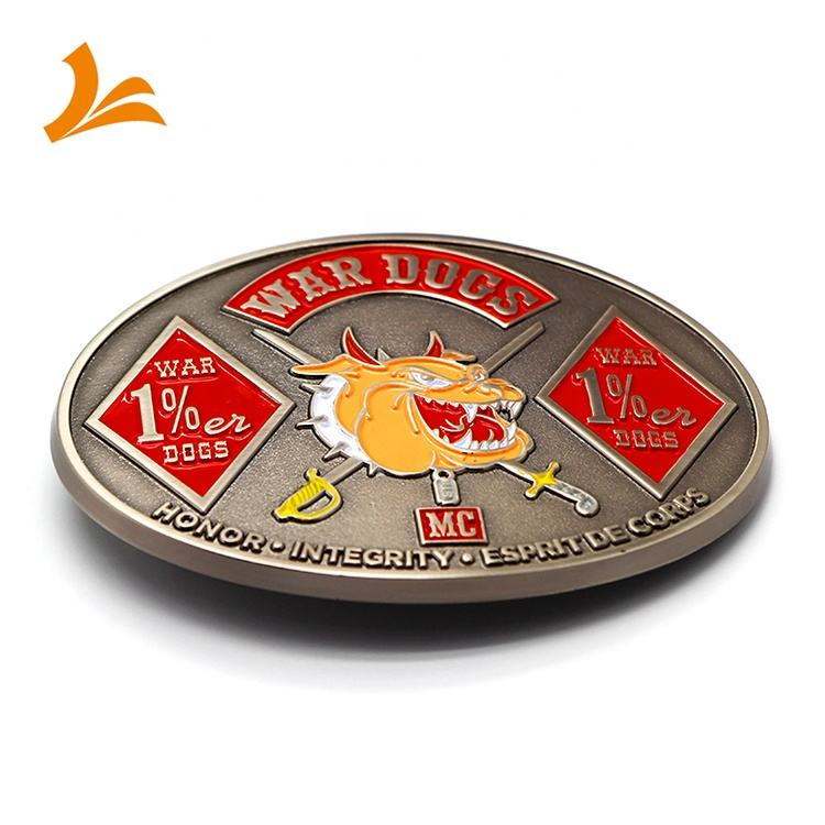 Zinc alloy die cast soft enamel black nickel plating metal simple belt buckles with custom logo