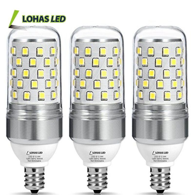2017 Niet-Dimbare E12 Led <span class=keywords><strong>Lamp</strong></span> 85W Equivalent(9W Lampen) daglicht Wit 5000K Led Corn Bulb