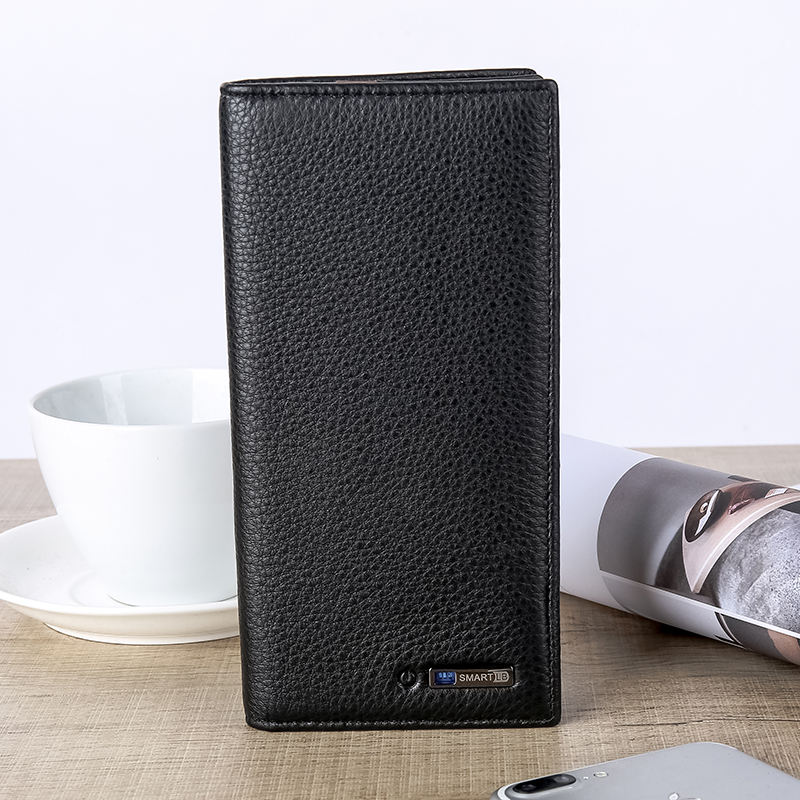corporate gift real leather wallet anti theft