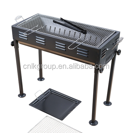 Outdoor portable charcoal vertical korean bbq grill cast iron table