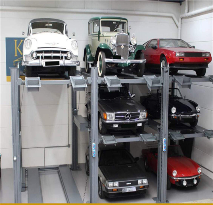 electric garage roof truck parking storage lift system