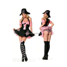Fun World Women's Caribbean Sexy Lady Halloween Pirate Costume Women AGC4326