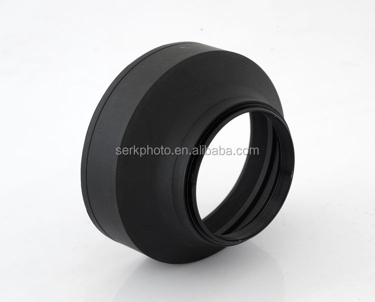 58mm Collapsible 3 in1 Rubber Lens Hood for Canon NikonDSLR SLR Camera Hot Sale