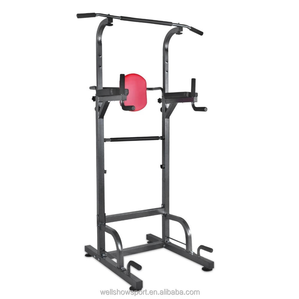 Wellshow Sport Fitness Multifunctionele <span class=keywords><strong>Power</strong></span> Tower Met Verticale Knie Verhogen, Dip Station, push Up Pull Up Station