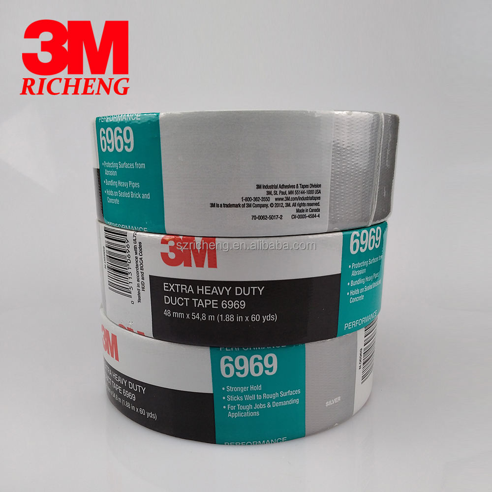 3M 6969 adhesive Duct Tape/duct sealing/proofing tape/48mm*54.8M