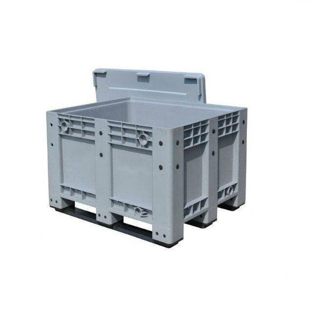 High quality heavy duty stackable large solid plastic pallet box price