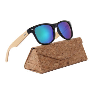2019 China eyewear manufacturer custom mirror cheap bamboo Sunglasses