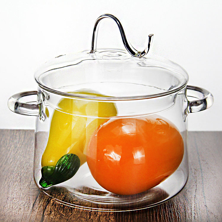 Hot sale pyrex glass cooking pot/big cooking pots/commercial cooking pots