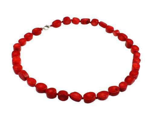 2017 New Coral Necklace Natural Coral brass lobster clasp red 10-14mm Sold Per 17 Inch Strand 17117
